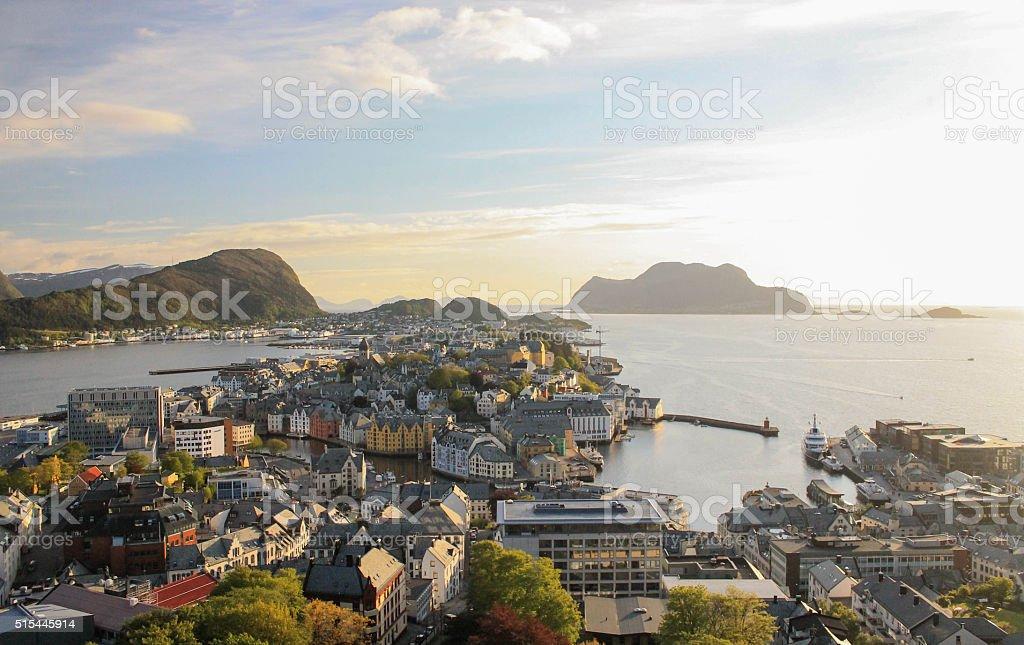Ålesund Norway city Landscape stock photo