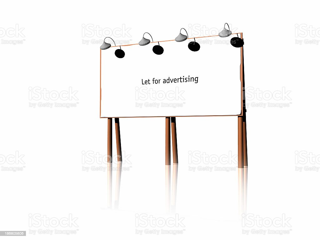 Let for advertising royalty-free stock photo