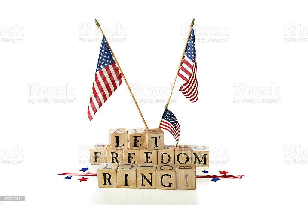 Let Freedom Ring! stock photo