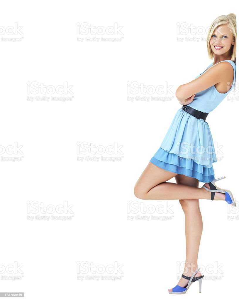 Let her smile boost your brand stock photo