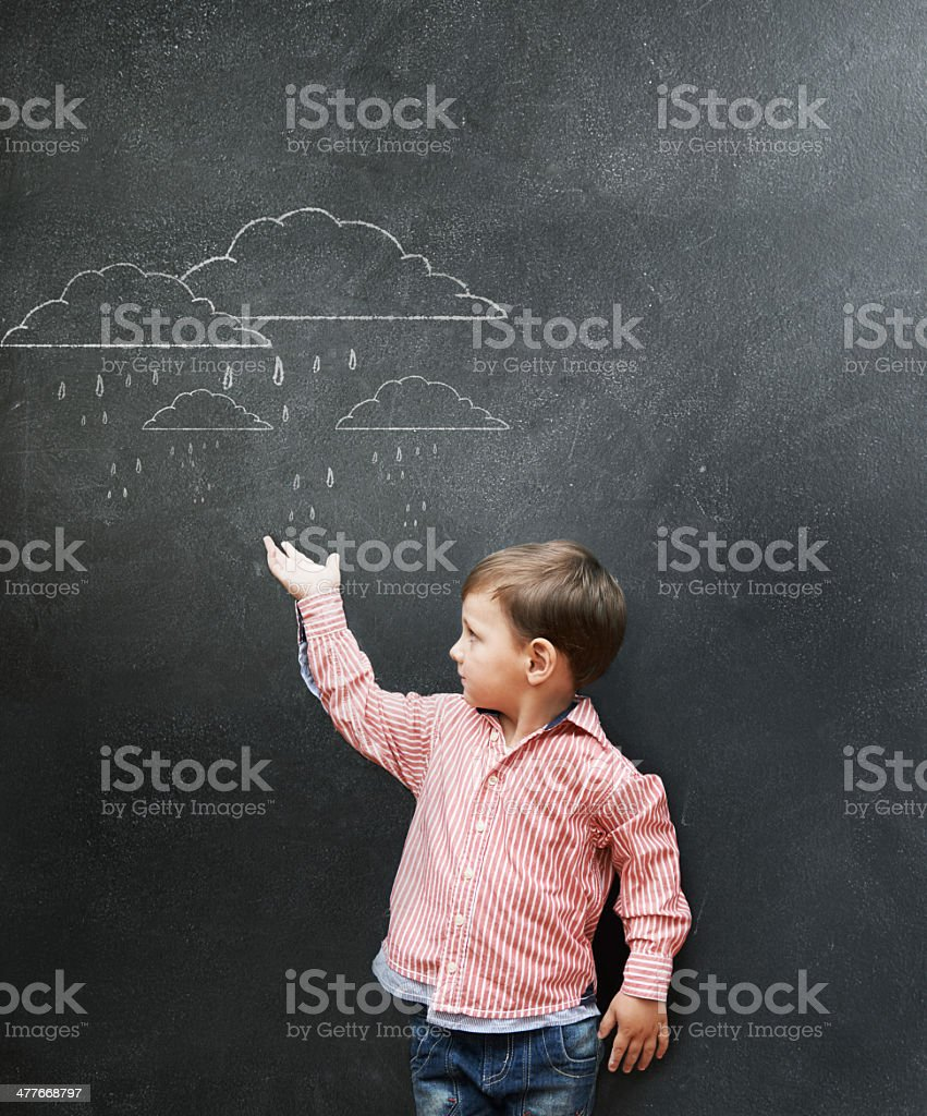 Let me forecast a bright and sunny future for you stock photo