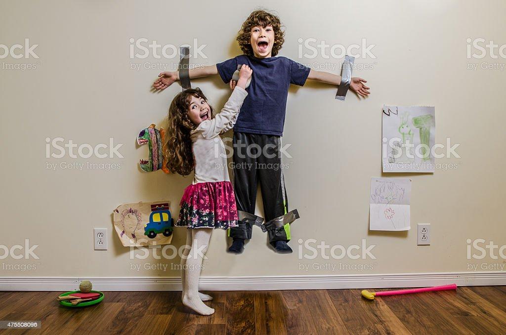 Let me go ! stock photo