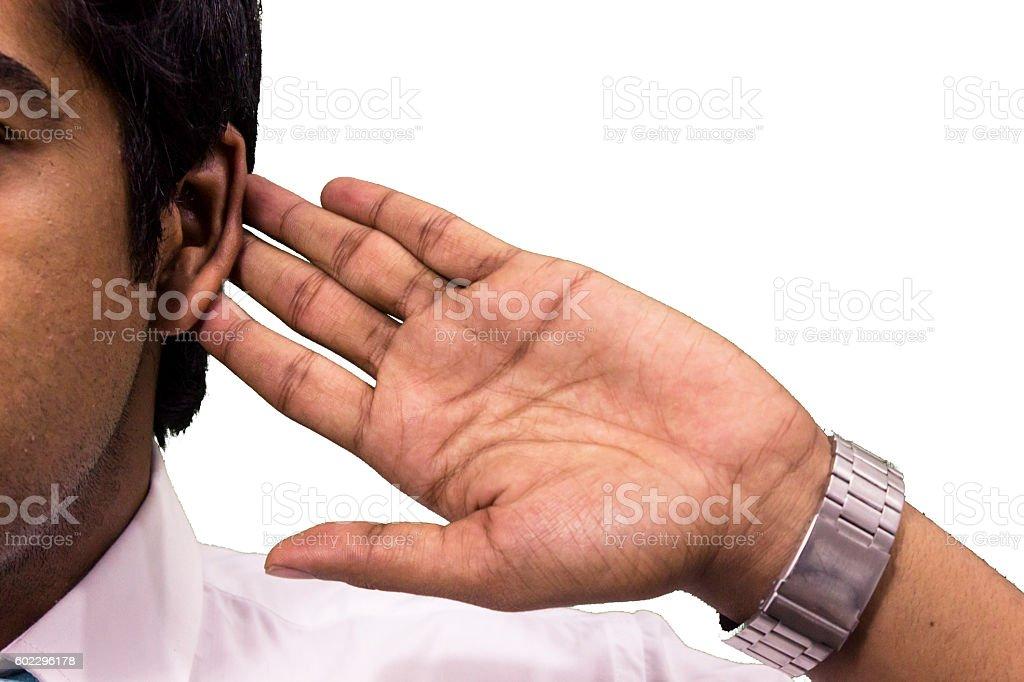 Let me hear. stock photo