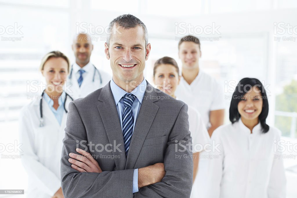 Let me introduce you to my team royalty-free stock photo