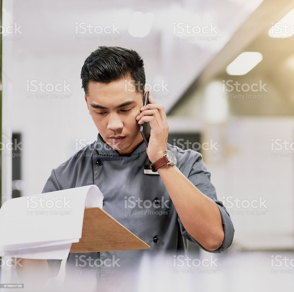 Let me just confirm your order... stock photo