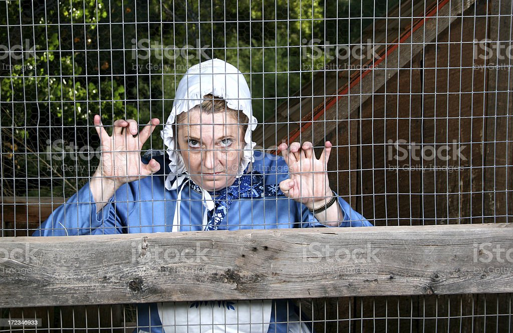 Let me out....or else! stock photo