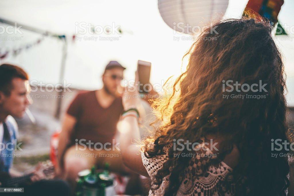 Let me take a selfie! stock photo