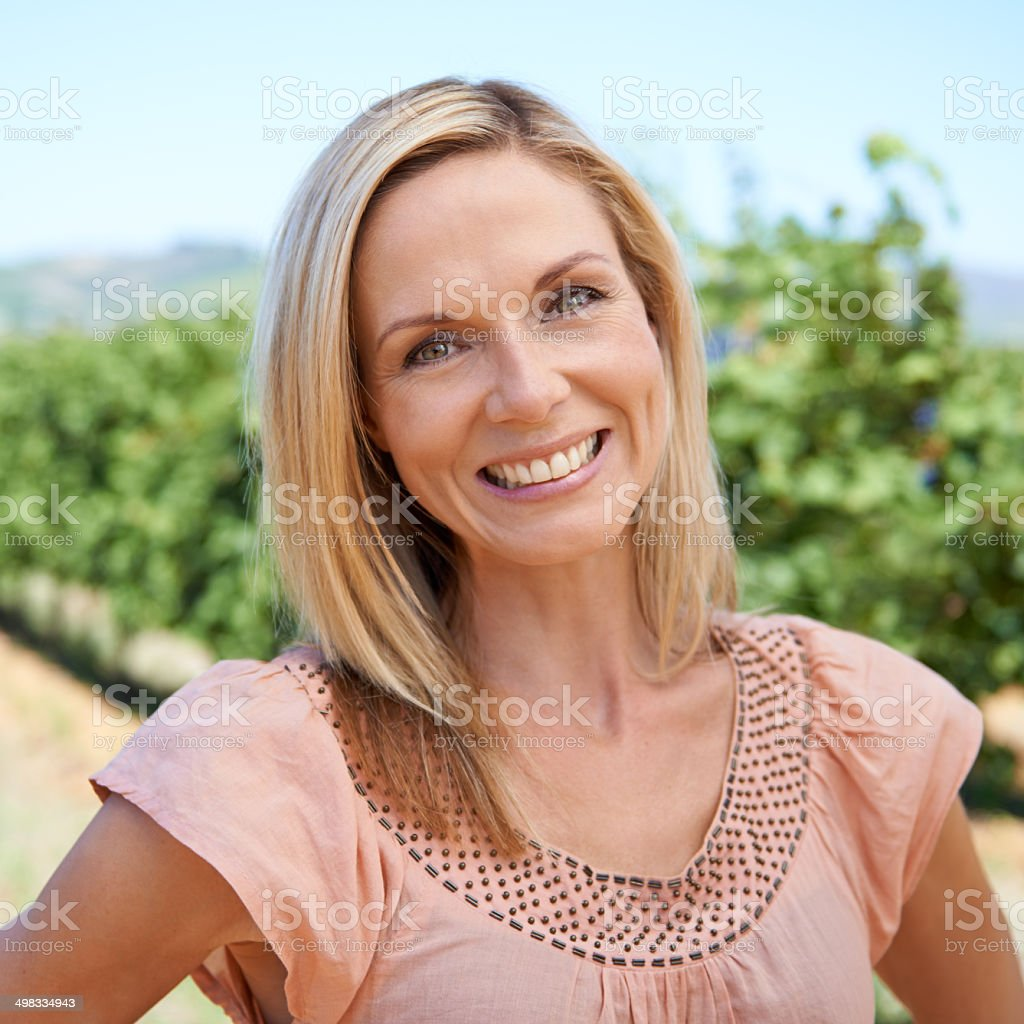 Let me take you on a tour of the vineyards stock photo