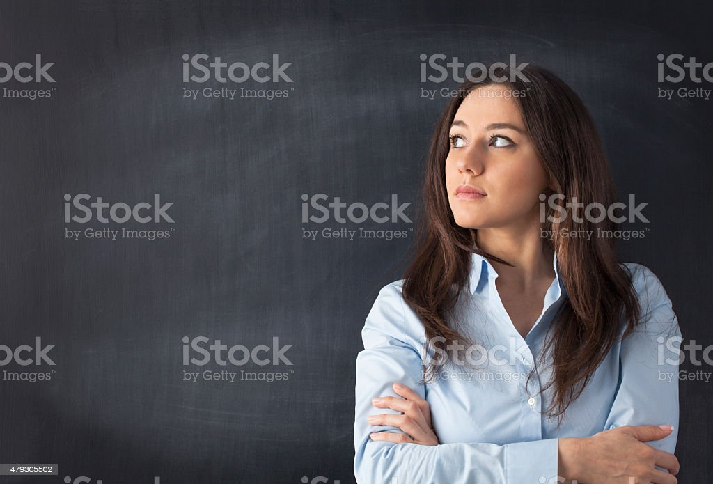 Let me think stock photo