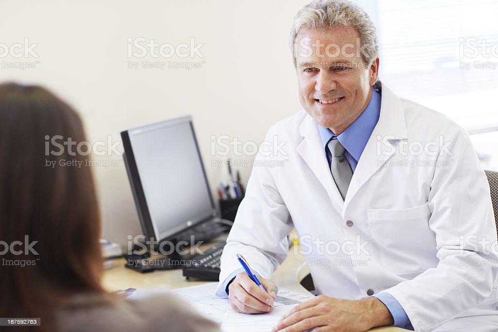 Let me write you a prescription... royalty-free stock photo