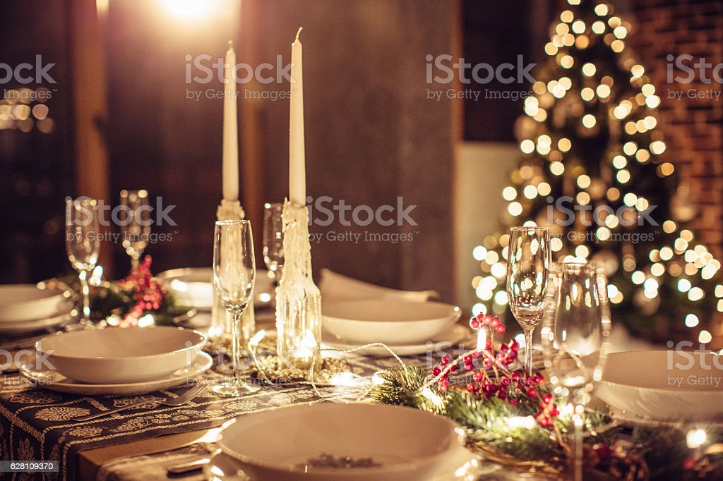 Let the Christmas begin stock photo
