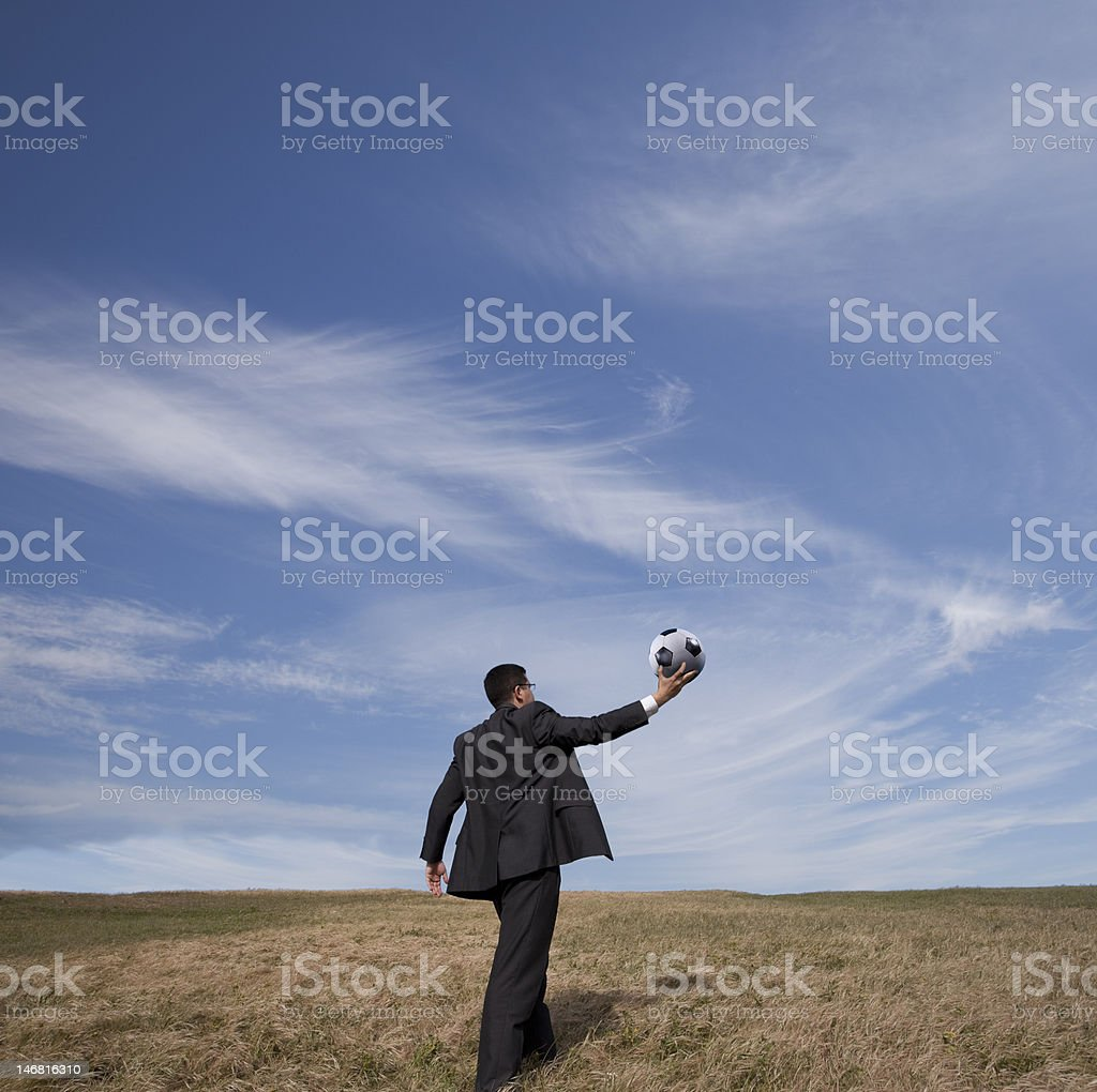 Let the game begin royalty-free stock photo