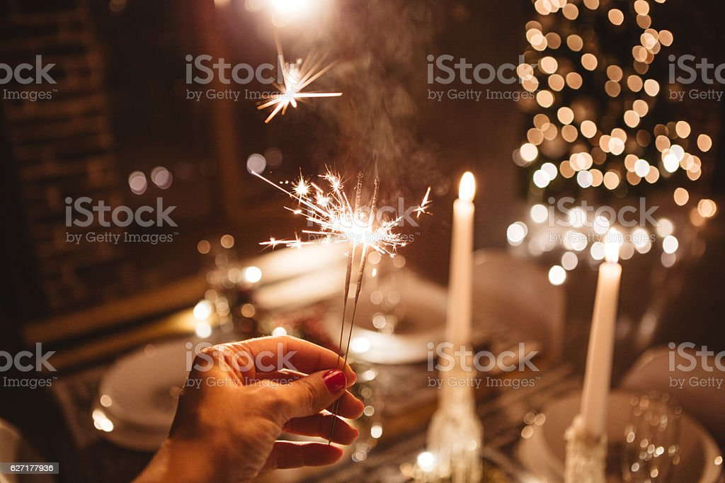 Let the holidays begin stock photo