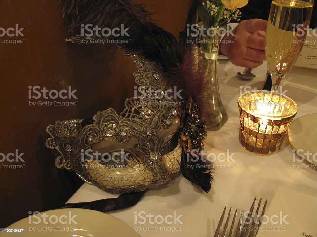 Let the masquerade begin stock photo