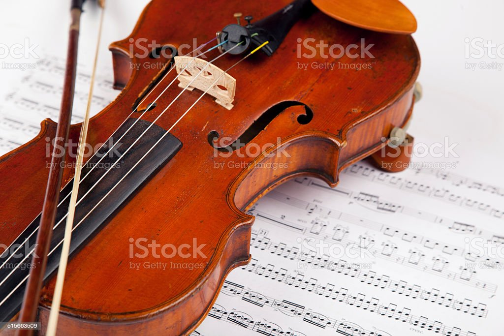Let the music begin stock photo
