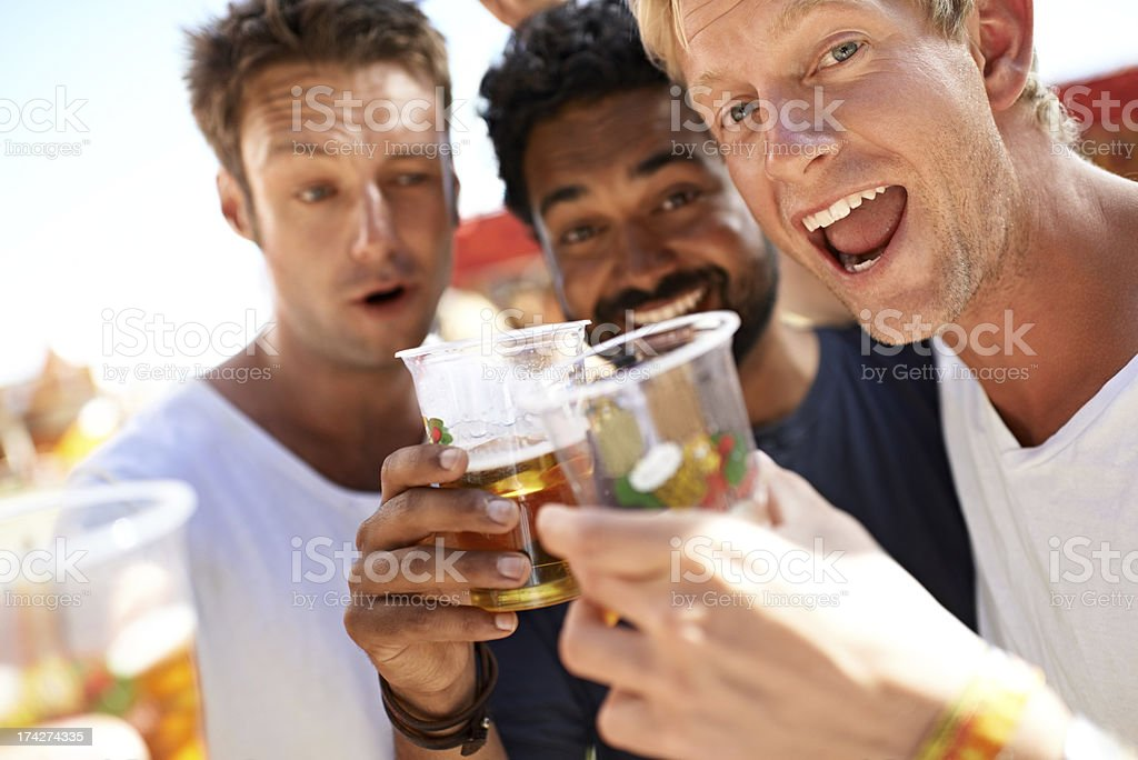 Let the partying begin! royalty-free stock photo