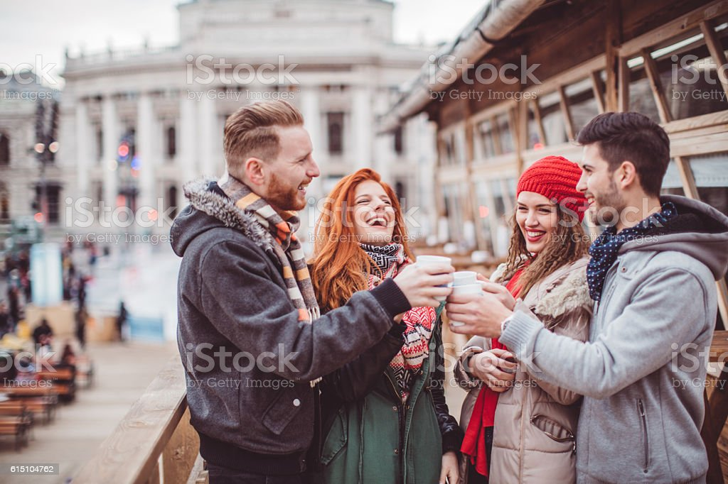 Let the season of mulled wine begin stock photo