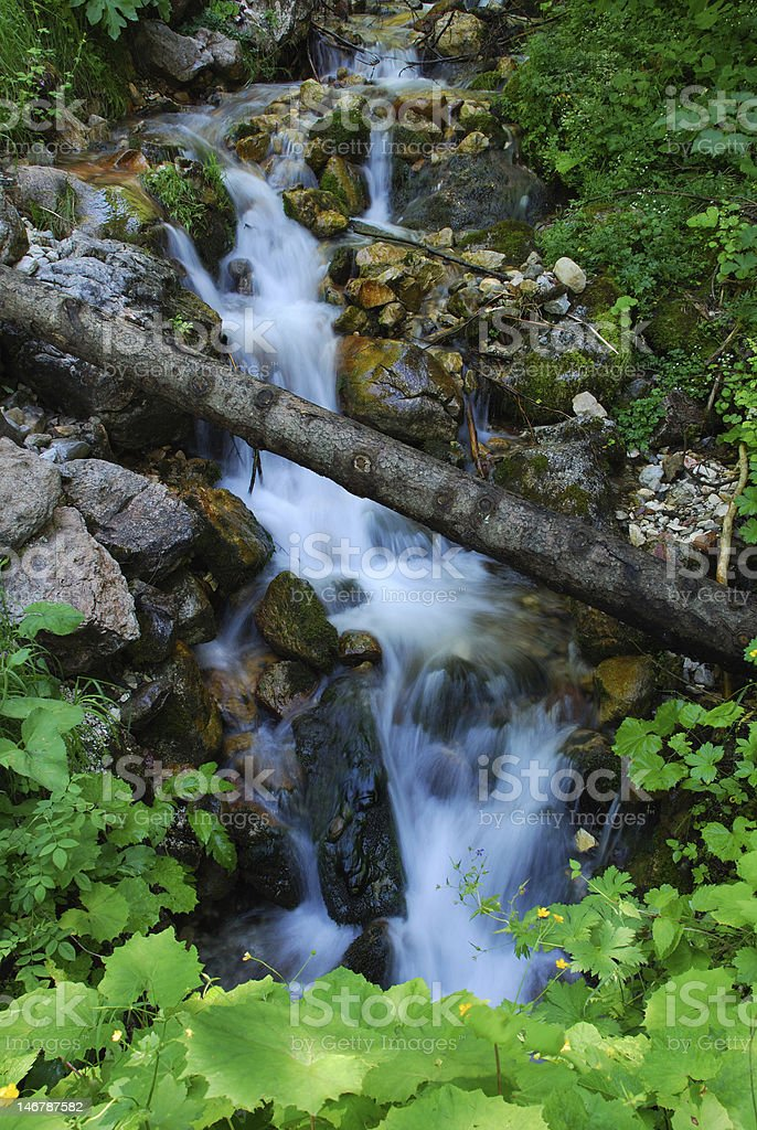 Let the water wash away your stress stock photo