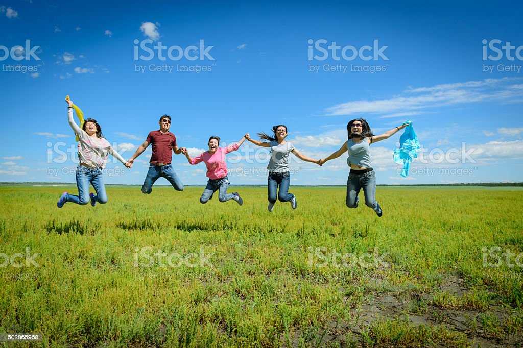 Let us fly to happy ocean stock photo