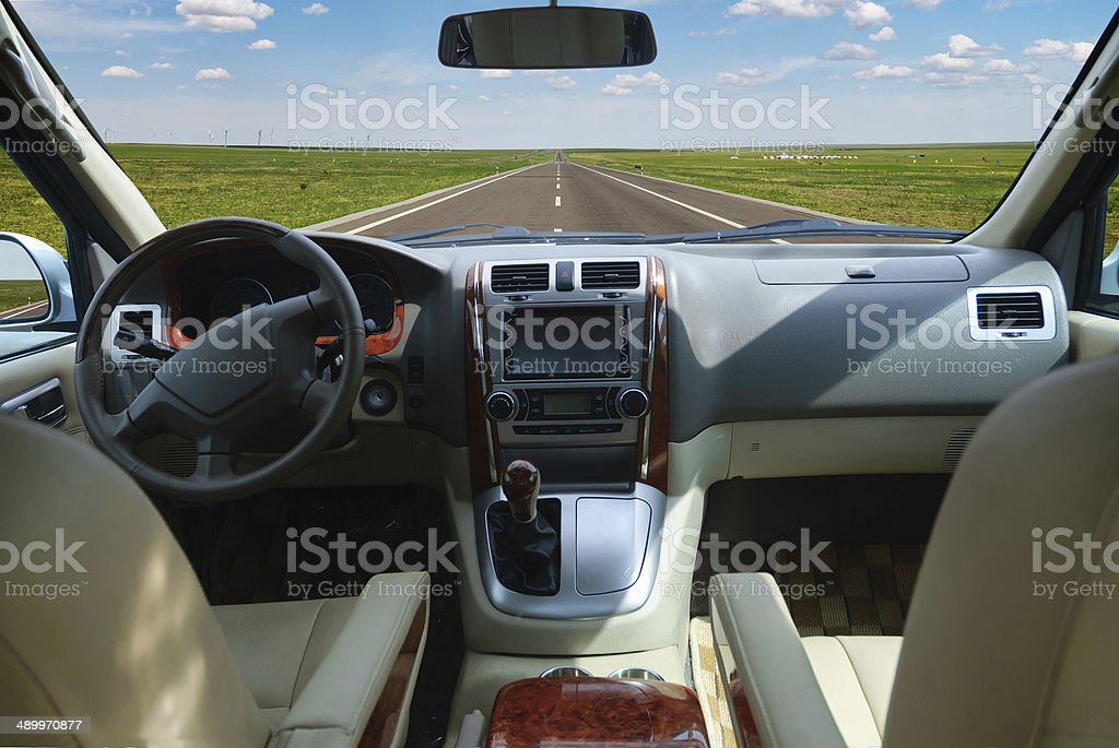 Let us go to car travel stock photo