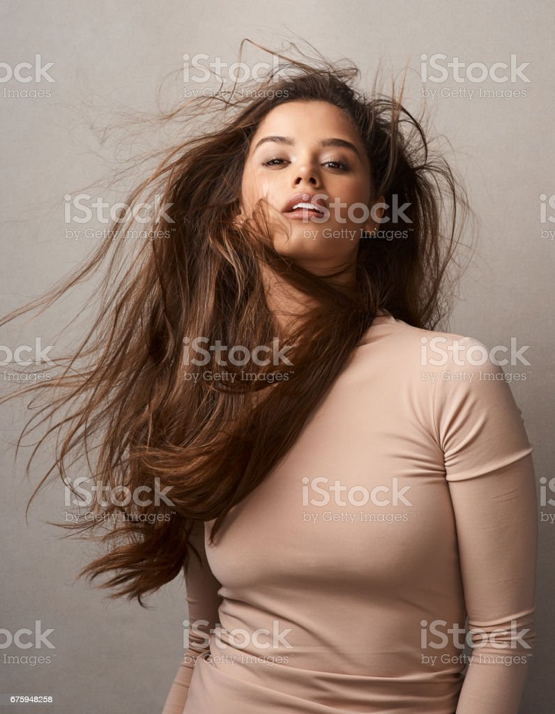 Let your hair express your mood stock photo