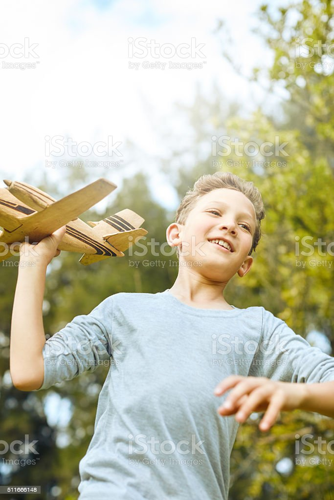 Let your imagination soar stock photo