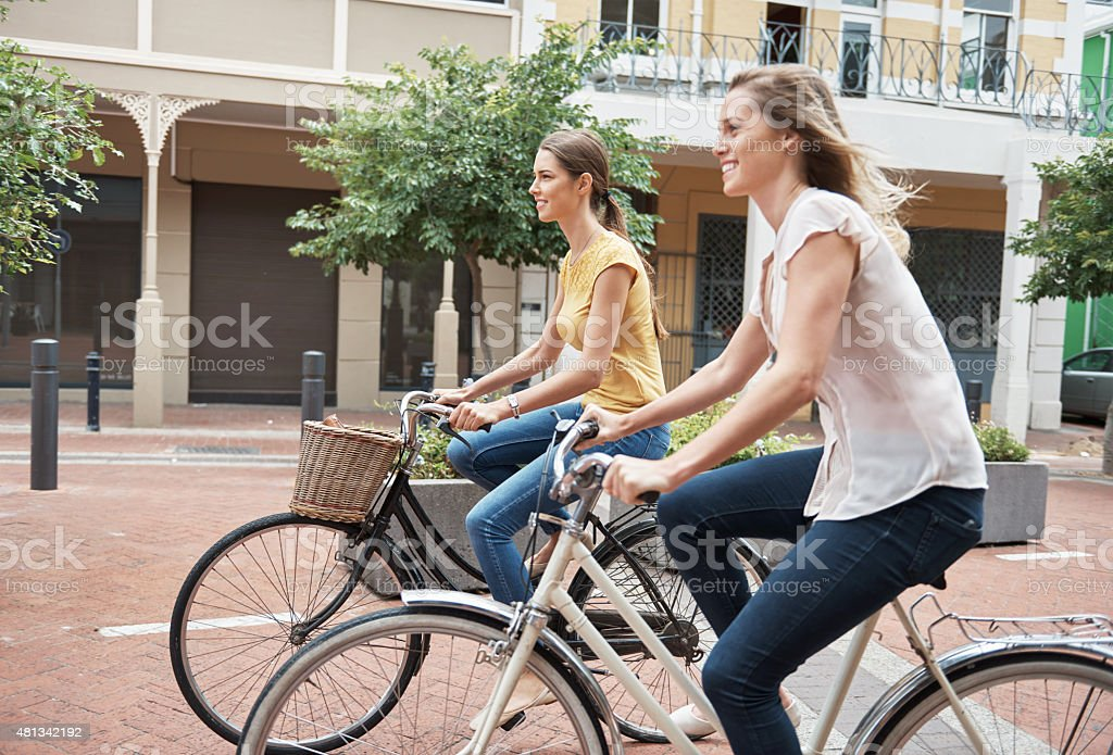 Let your legs do the traveling stock photo