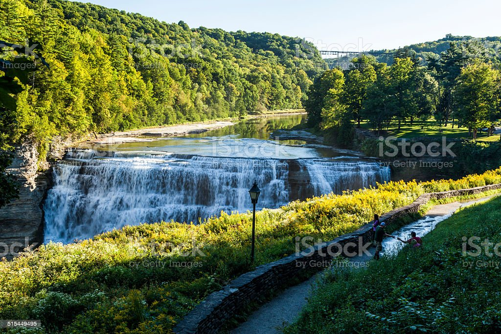 Letchworth Middle Falls stock photo