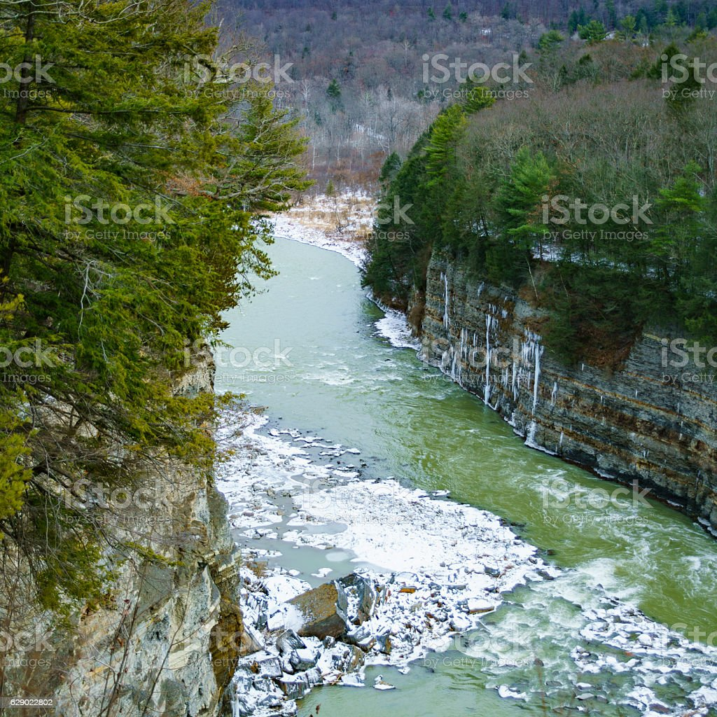Letchworth State Park - Grand Canyon of the East stock photo