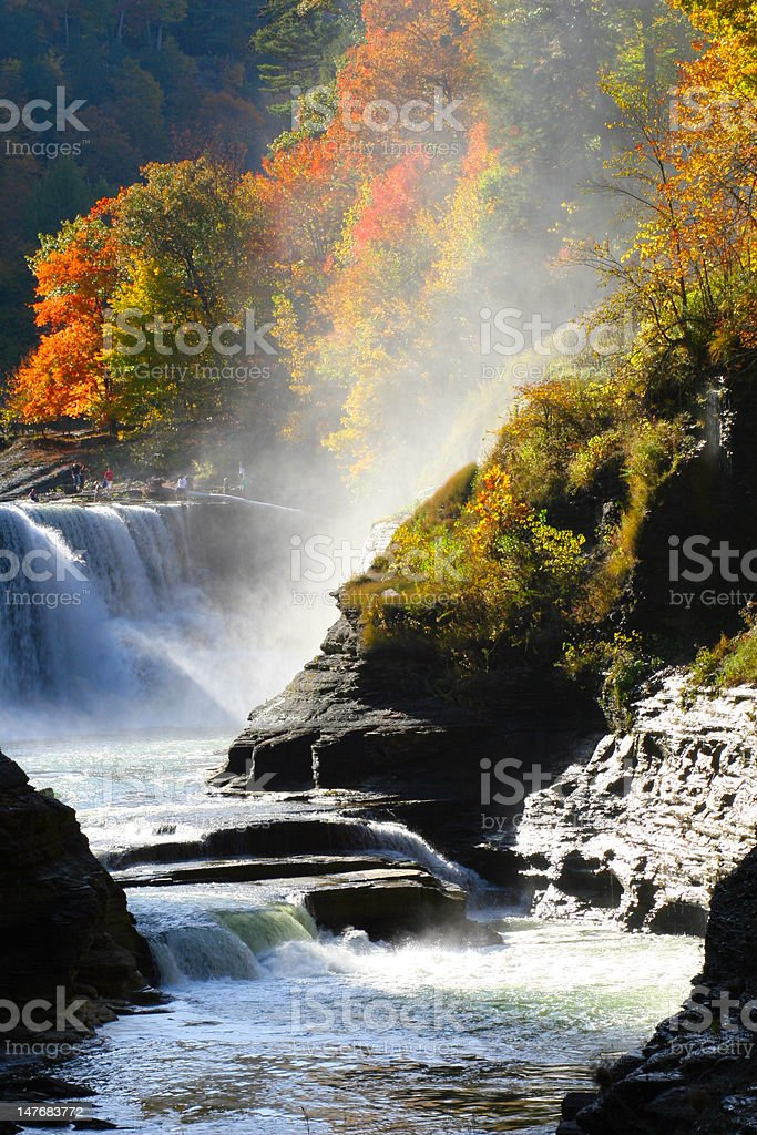 Letchworth State Park stock photo