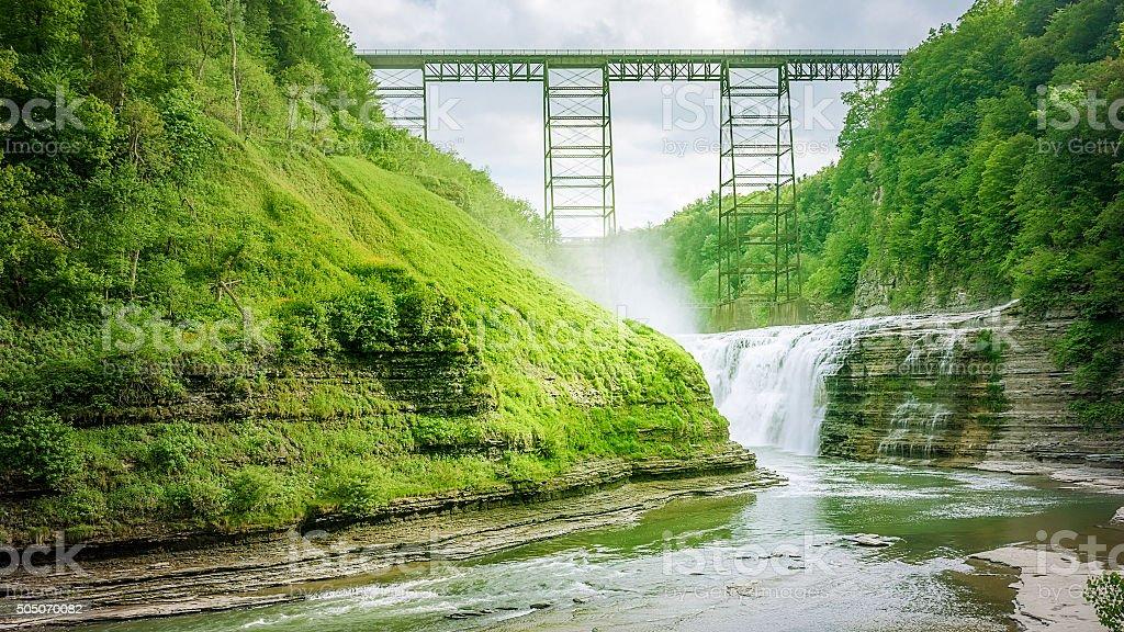 letchworth waterfall stock photo