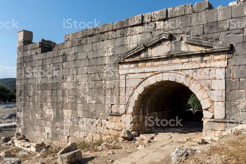 Letoon ancient city in Mugla stock photo