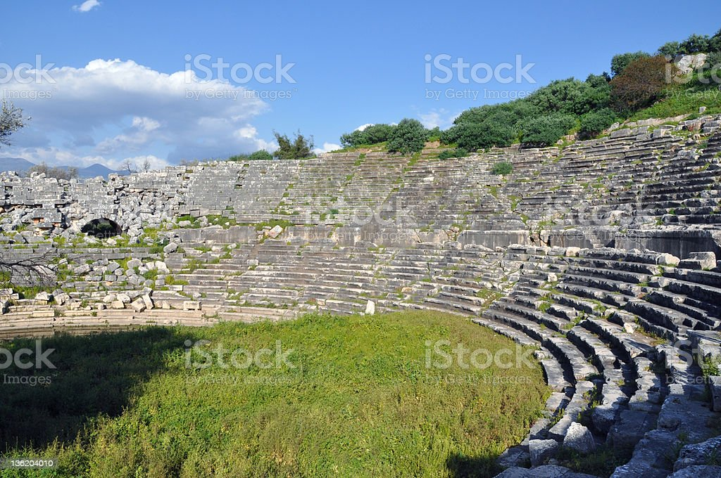 Letoon ancient theater royalty-free stock photo