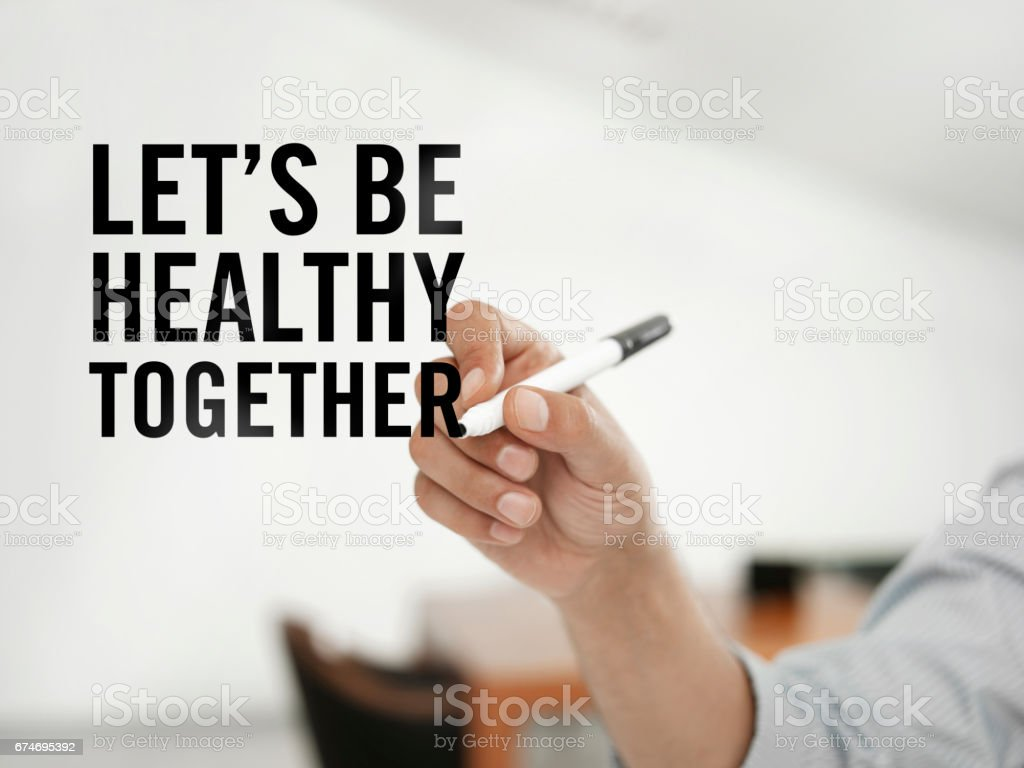 Let's be healthier together stock photo