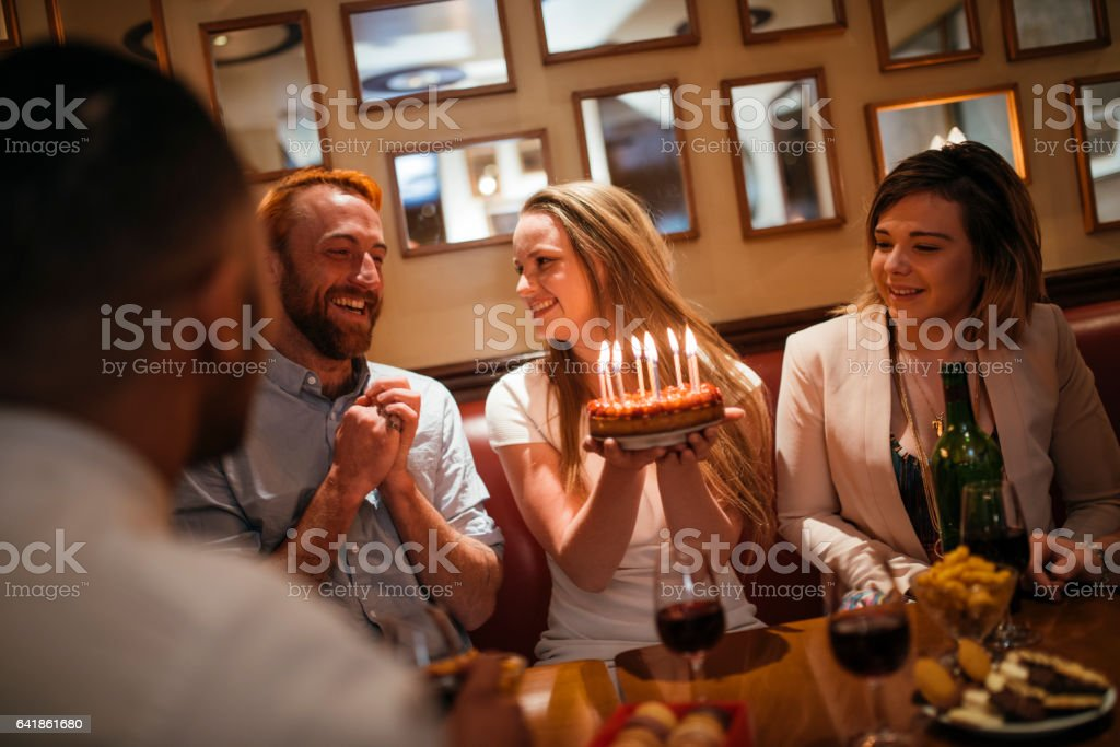 Let's blow these candles! stock photo
