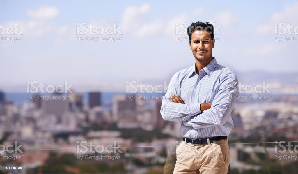 Let's bring business to this great city stock photo