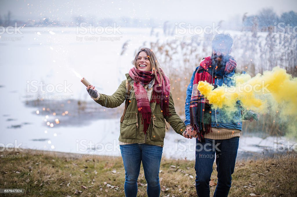 Let's colour this gray day stock photo