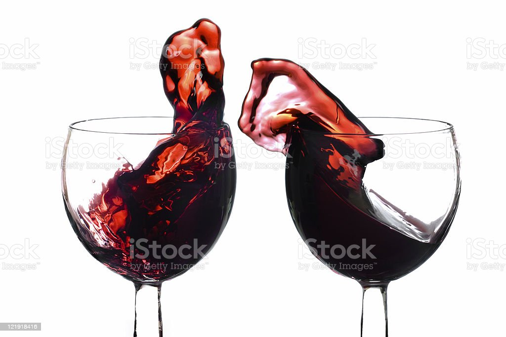 let's dance - red wine royalty-free stock photo