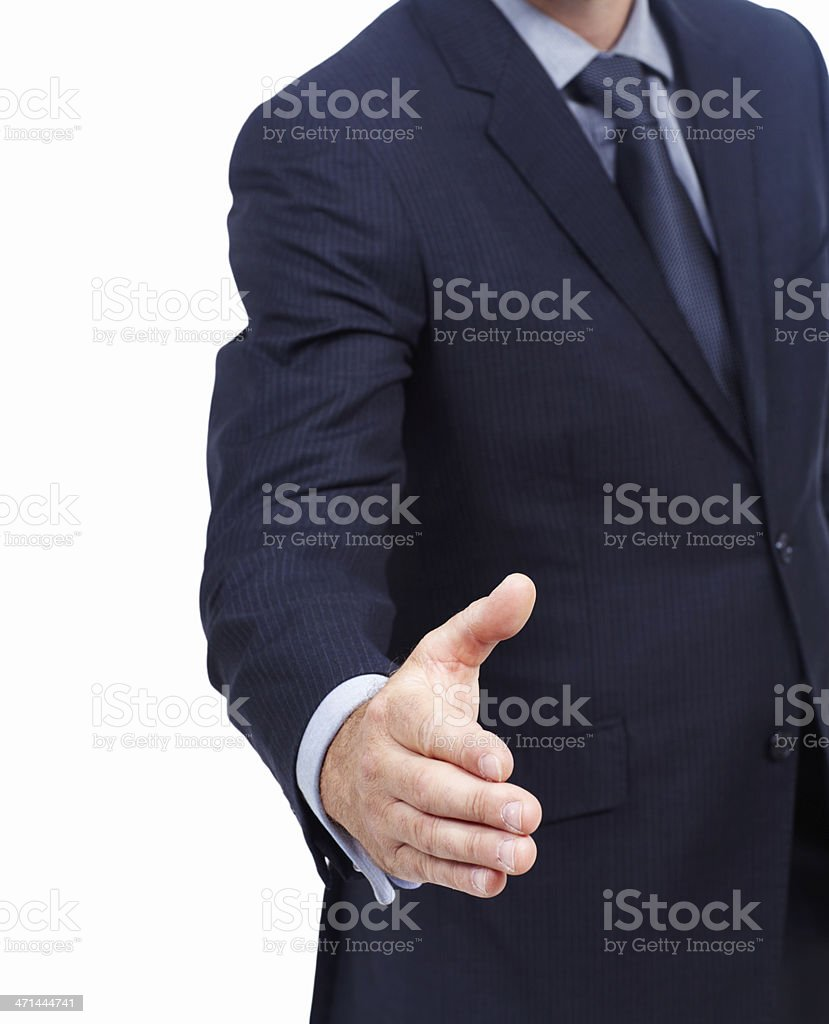 Let's do business royalty-free stock photo