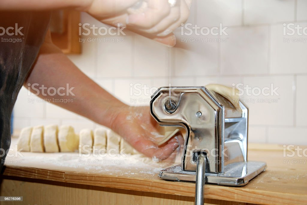 Let's do it some homemade lasagne with pastamachine royalty-free stock photo