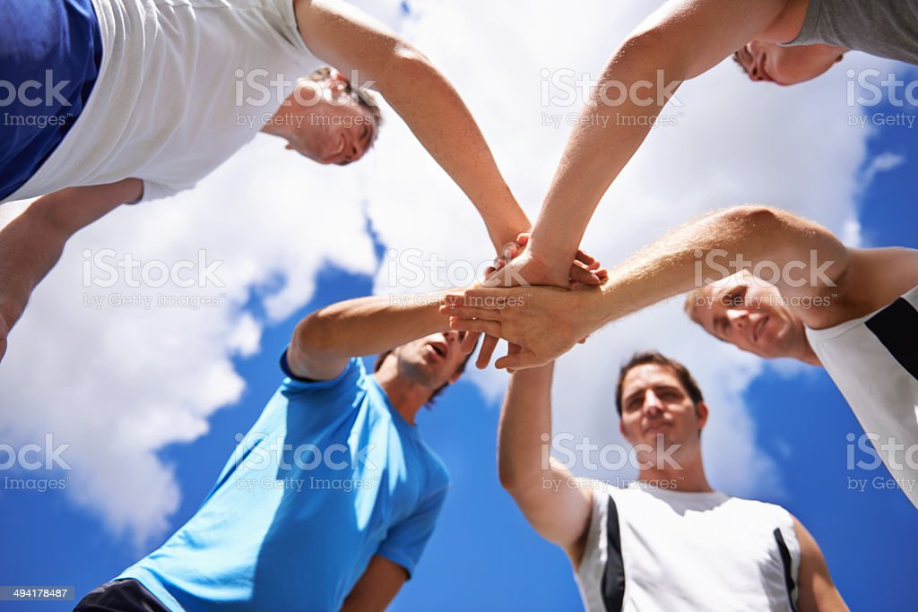 Let's do this, team! stock photo
