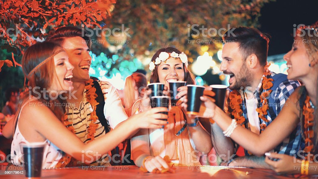 Let's drink to celebrate. stock photo