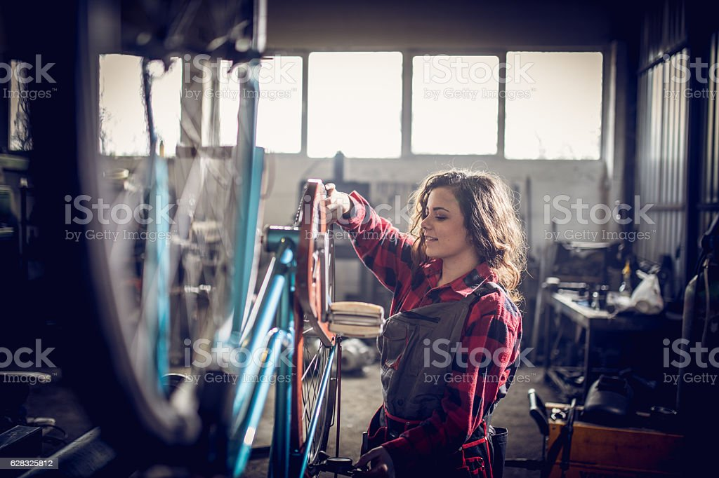 Let's fix my bike stock photo