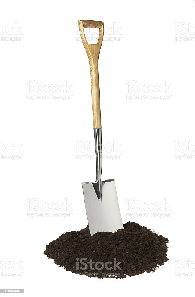 lets get digging royalty-free stock photo