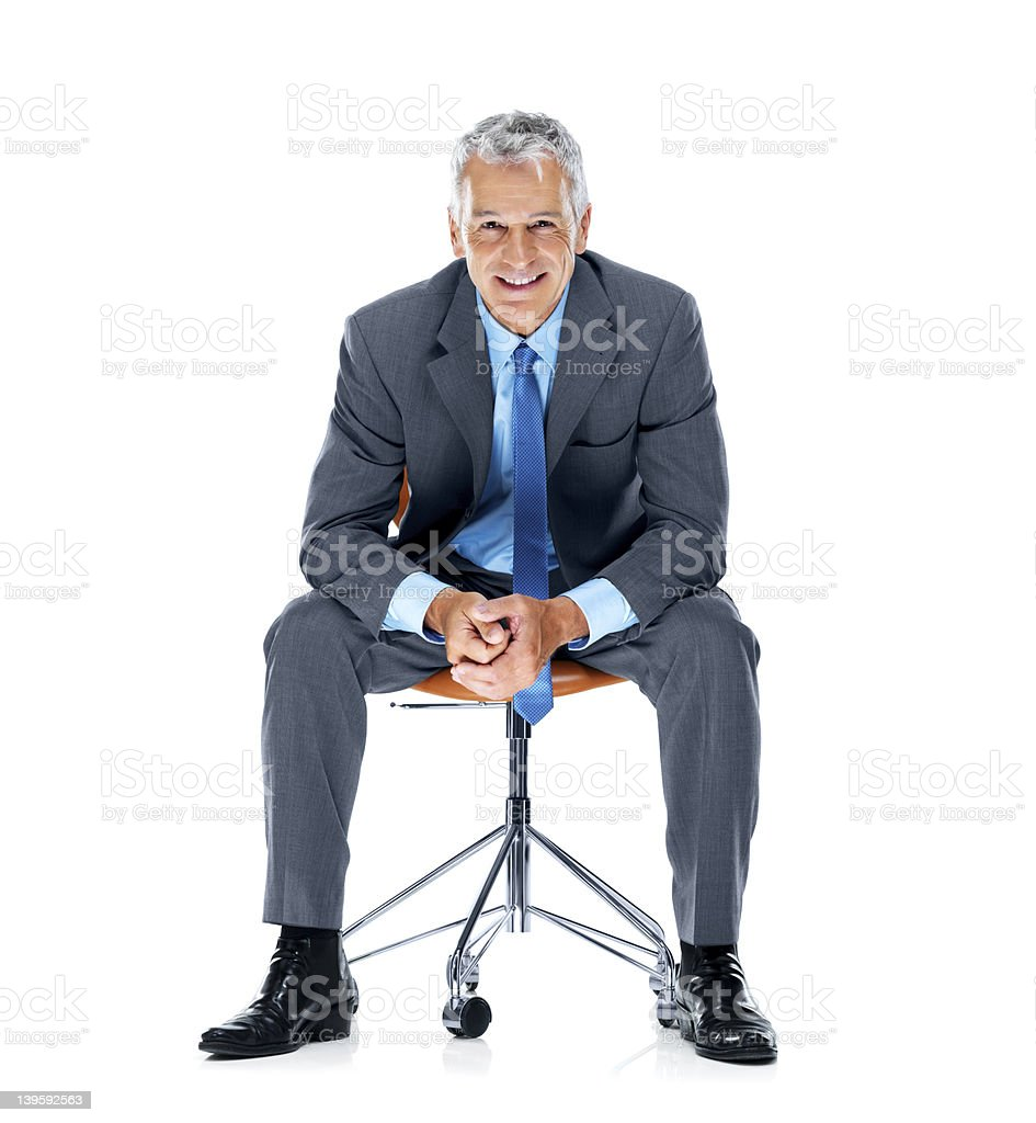 Let's get down to business royalty-free stock photo