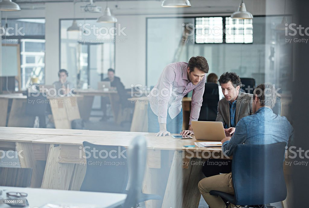 Let's get down to business stock photo