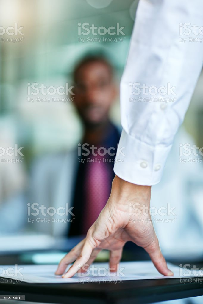 Let's get down to documentation stock photo
