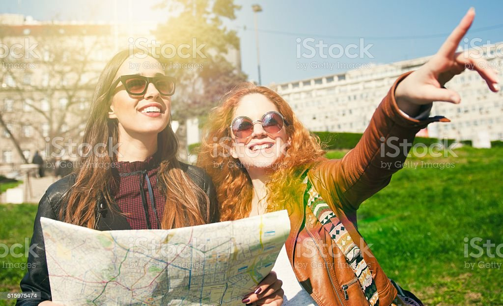 Let's get lost in a new city stock photo
