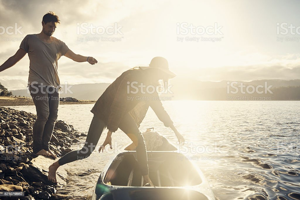 Let's get ready to row stock photo