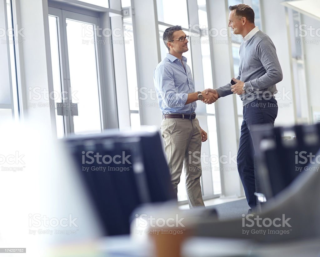 Let's get straight to work royalty-free stock photo